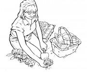 Coloriage Jardinier en couleur