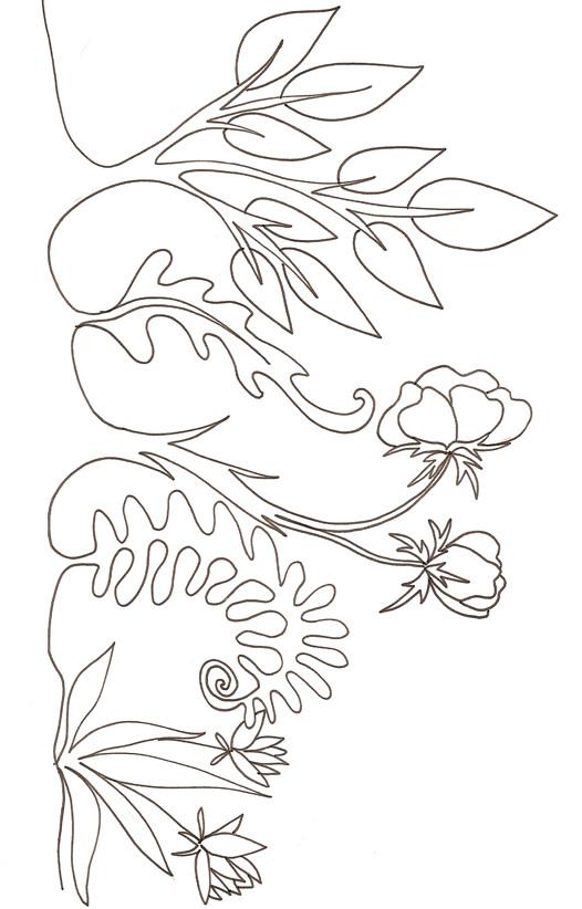 Coloriage les plantes dans le jardin dessin gratuit imprimer for Jardin dessin