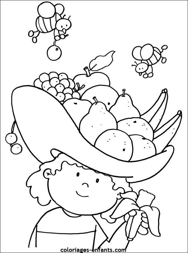 Coloriage et dessins gratuits Fruit et Abeilles à imprimer