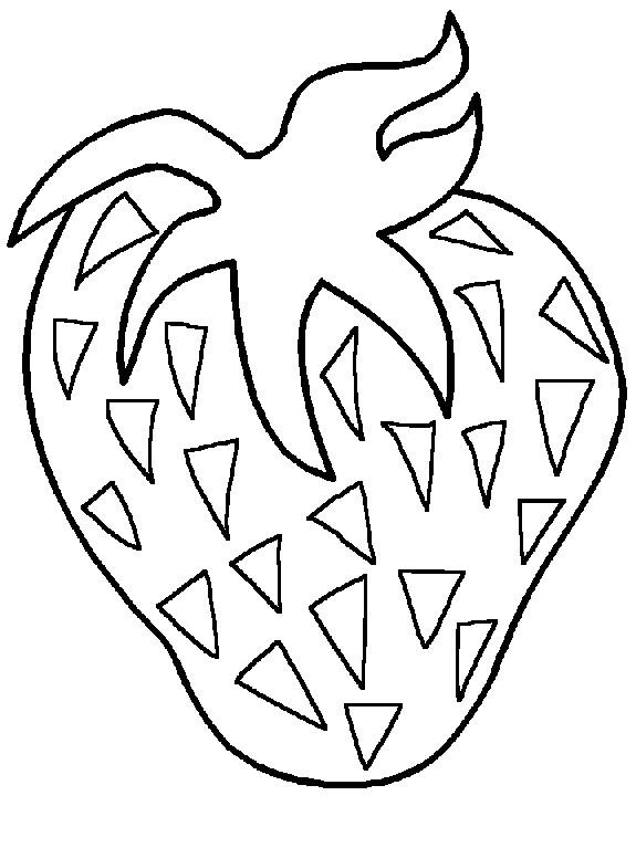 Coloriage et dessins gratuits Fruit Fraise à imprimer