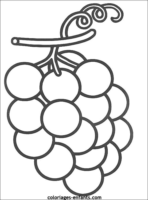 Coloriage et dessins gratuits Fruit Raisin à imprimer