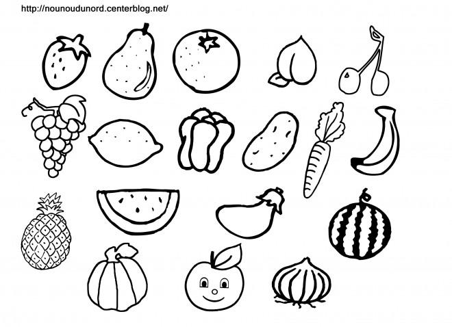 Coloriage et dessins gratuits Fruits à décorer à imprimer