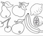 Coloriage Fruits de Printemps
