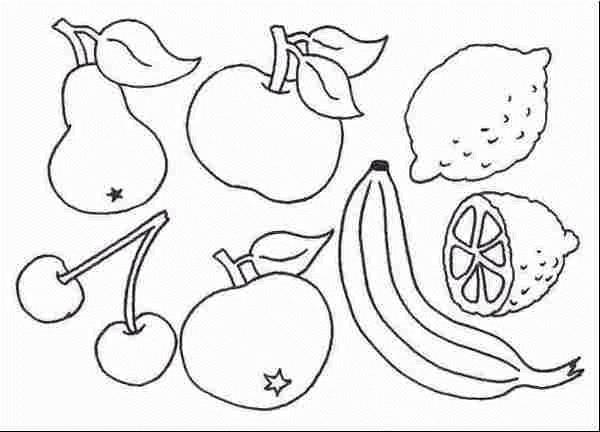 Coloriage et dessins gratuits Fruits de Printemps à imprimer