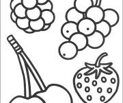 Coloriage et dessins gratuit Fruits en noir et blanc à imprimer
