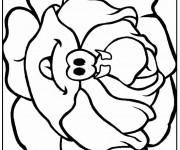 Coloriage et dessins gratuit Légume Chou rigolo à imprimer