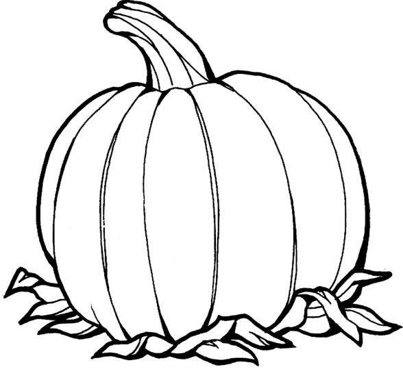 Coloriage et dessins gratuits Légume Citrouille en noir à imprimer