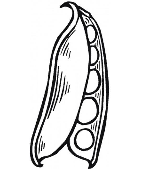 Coloriage et dessins gratuits Légume de Haricot à imprimer