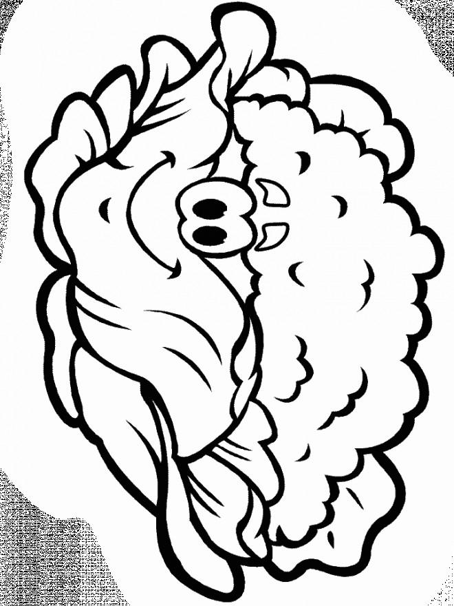 Coloriage et dessins gratuits Légume heureux à imprimer