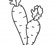 Coloriage Légume Potager stylisé