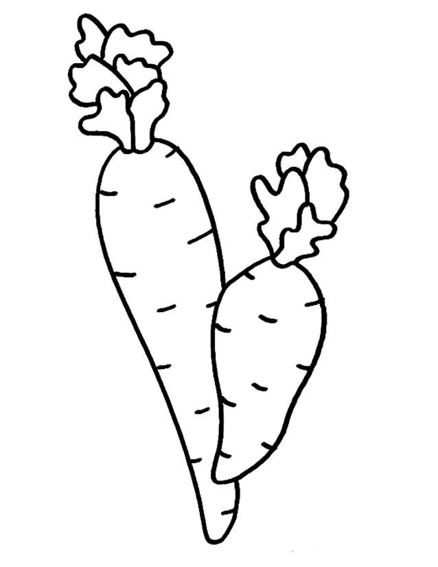 Coloriage et dessins gratuits Légume Potager stylisé à imprimer