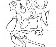 Coloriage et dessins gratuit Légumes à décorer à imprimer