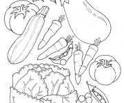 Coloriage Légumes de Jardin