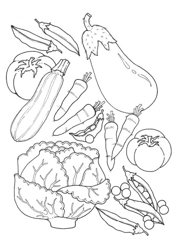 Coloriage et dessins gratuits Légumes de Jardin à imprimer