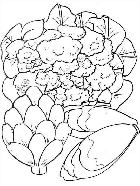 Coloriage et dessins gratuits Légumes de salade à imprimer