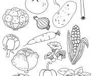 Coloriage et dessins gratuit Légumes en couleur à imprimer