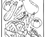 Coloriage et dessins gratuit Légumes en ligne à imprimer