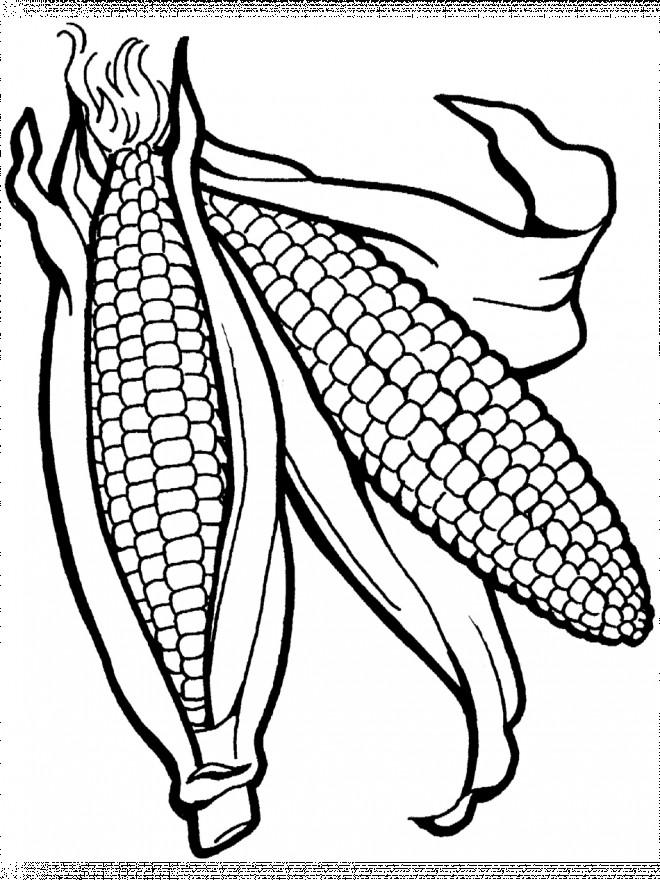 Coloriage et dessins gratuits Légumes en noir à imprimer