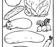 Coloriage et dessins gratuit Légumes encadrés à imprimer