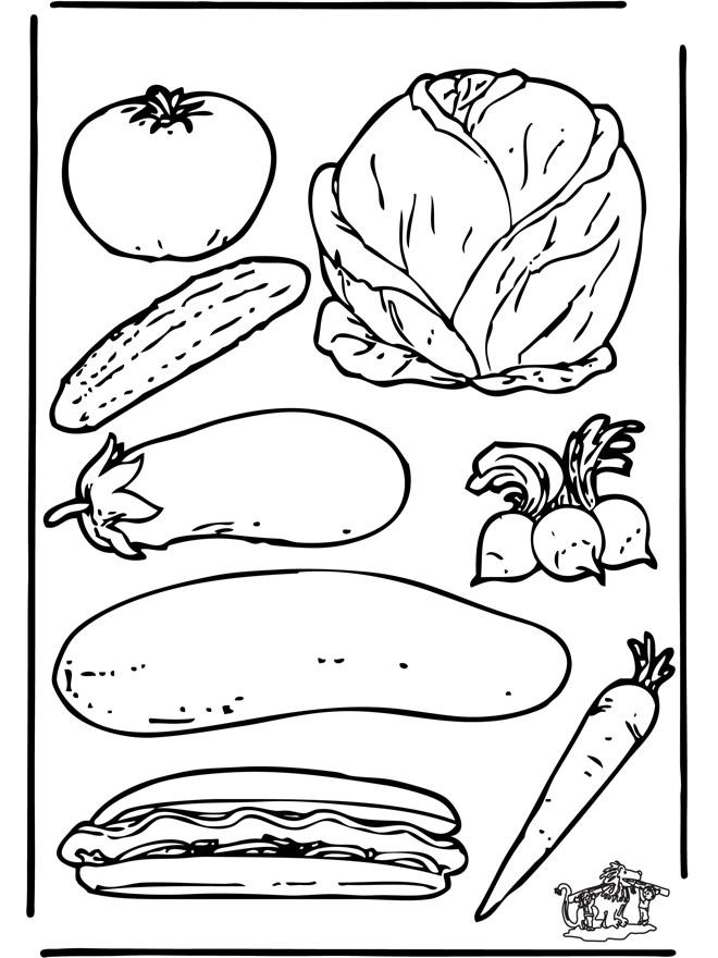 Coloriage et dessins gratuits Légumes encadrés à imprimer