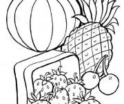 Coloriage Légumes et Fruits de Printemps