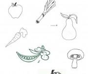 Coloriage Légumes et Fruits sains