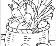 Coloriage et dessins gratuit Légumes pour décoration à imprimer