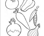 Coloriage et dessins gratuit Légumes pour Recette à imprimer