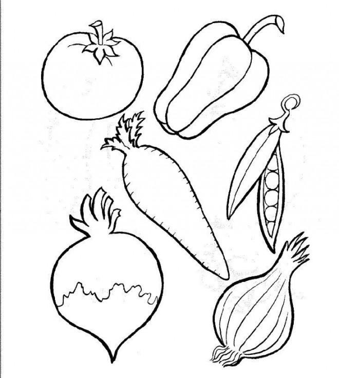 Coloriage et dessins gratuits Légumes pour Recette à imprimer