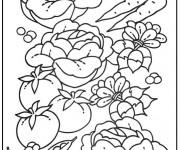 Coloriage et dessins gratuit Légumes sains à imprimer