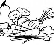 Coloriage et dessins gratuit Légumes sur Table à imprimer