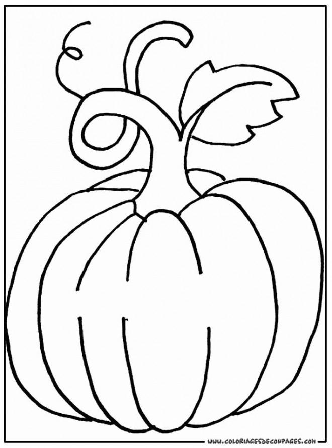 Coloriage et dessins gratuits Plante Citrouille géante à imprimer