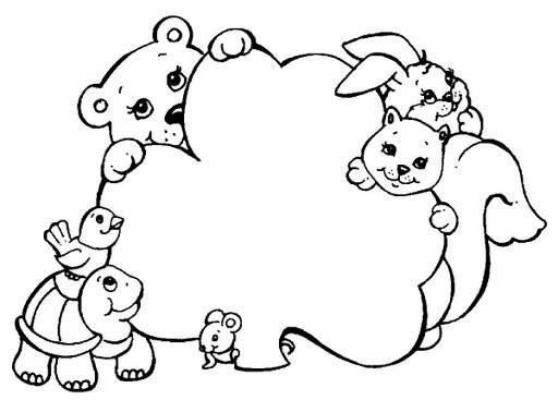 Coloriage et dessins gratuits Animaux aimables forêt à imprimer