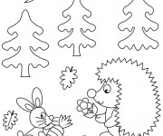 Coloriage et dessins gratuit Animaux de la Forêt maternelle à imprimer