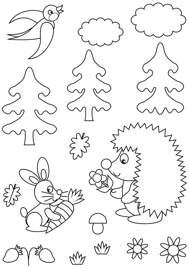Coloriage et dessins gratuits Animaux de la Forêt maternelle à imprimer