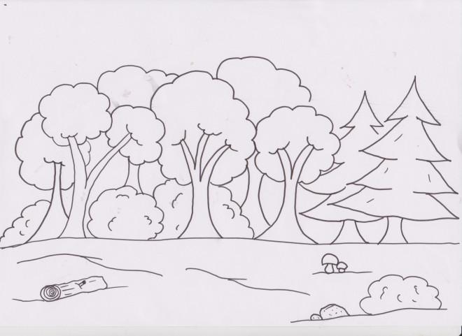 Coloriage et dessins gratuits Forêt ay crayon à imprimer