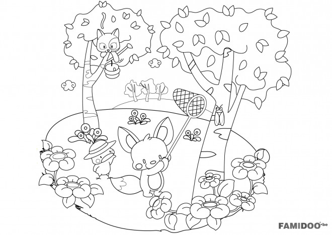 Coloriage et dessins gratuits Forêt et Nature à imprimer