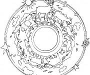 Coloriage et dessins gratuit Forêt Mandala à imprimer