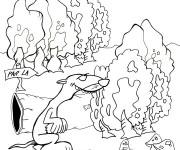 Coloriage et dessins gratuit Furet 14 à imprimer