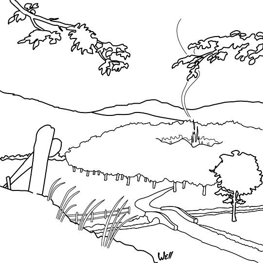 Coloriage et dessins gratuits La forêt automne à imprimer