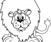 Coloriage Le Lion le Roi de la Forêt