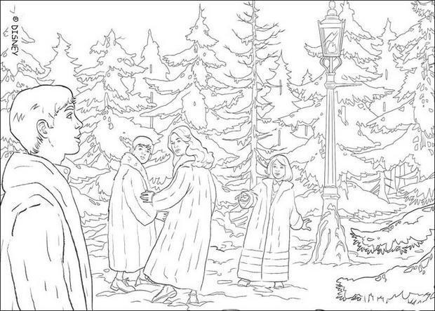 Coloriage et dessins gratuits Les enfants dans la forêt Disney à imprimer