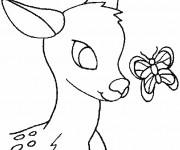 Coloriage Petit Cerf  de Forêt