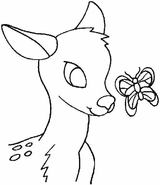 Coloriage et dessins gratuits Petit Cerf  de Forêt à imprimer