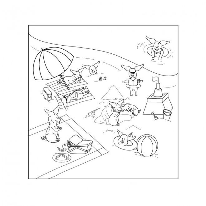 Coloriage et dessins gratuits Animaux Plage à colorier à imprimer