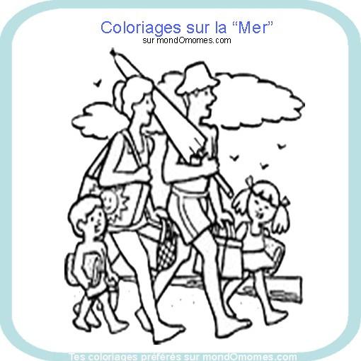 Coloriage et dessins gratuits Famille Direction Mer à imprimer