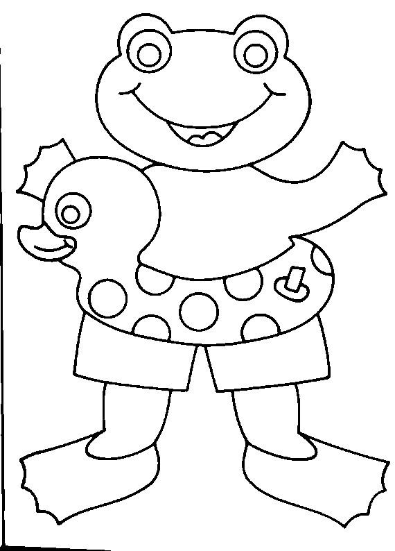Coloriage et dessins gratuits Grenouille et chambrière de mer à imprimer