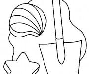 Coloriage et dessins gratuit Jouets de Plage à imprimer