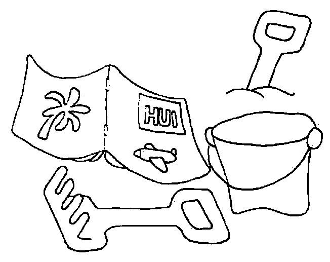 Coloriage et dessins gratuits Jouets sur la Plage à imprimer