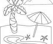 Coloriage et dessins gratuit La Plage à imprimer